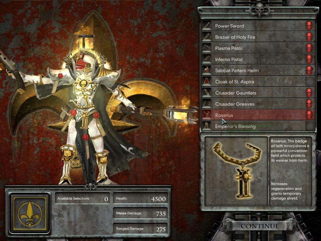 WarHammer 40.000 Dawn of War: Dark Crusade 1.20: More options