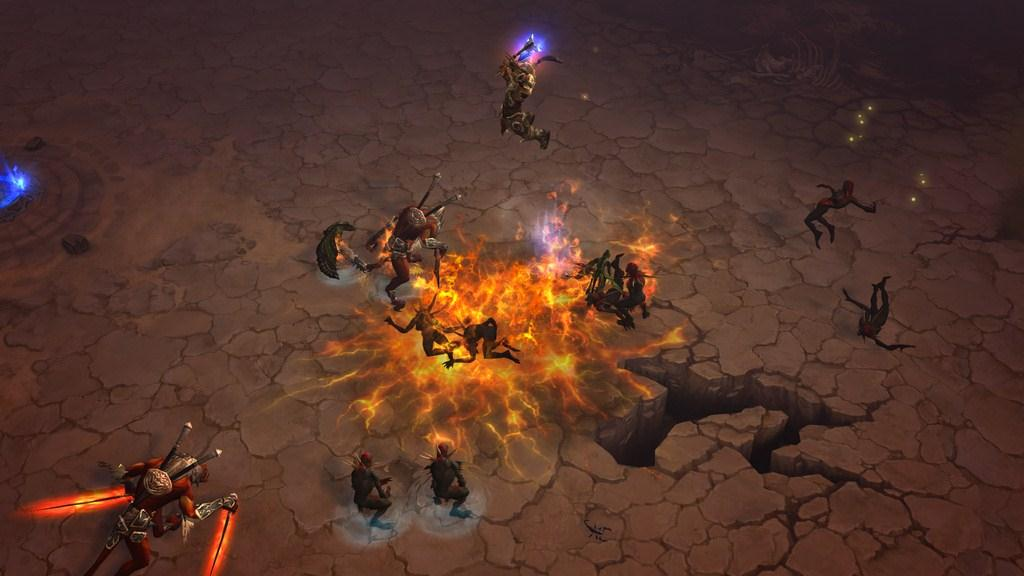 Through Active Shutter Glasses : Diablo III