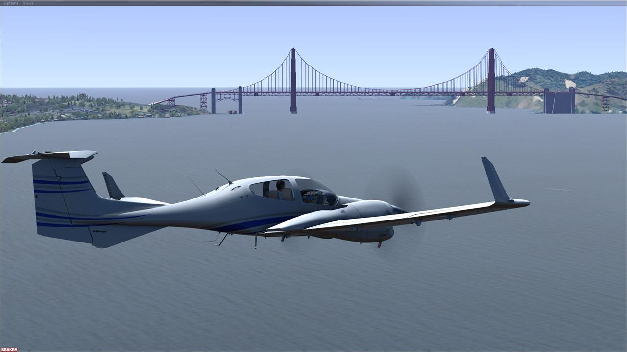 Diamond TwinStar Over the San Francisco Bay