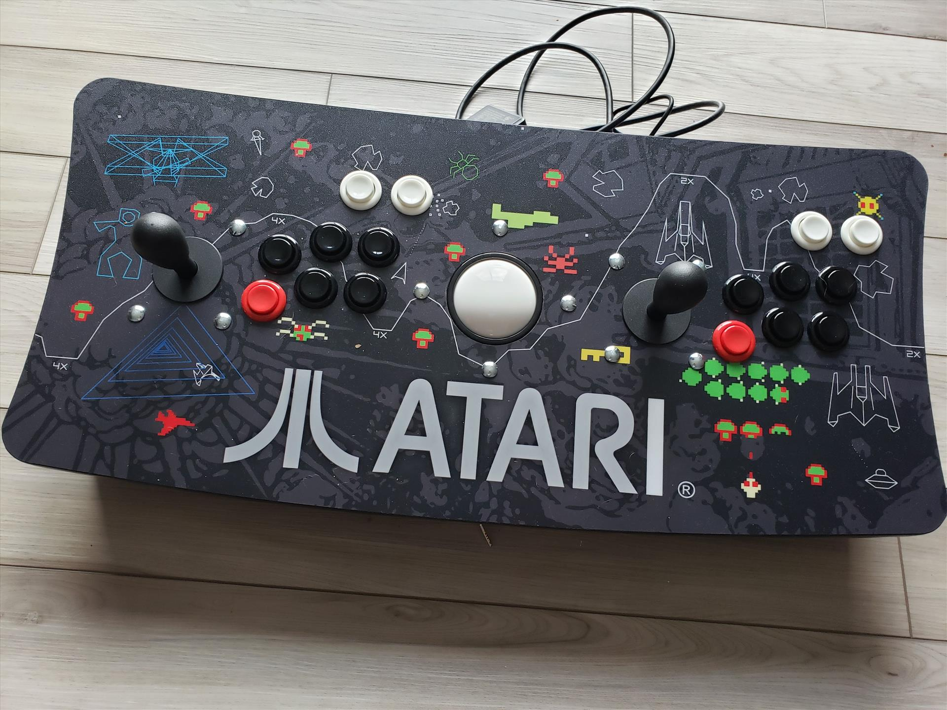 Atari Ultimate Dual Arcade Fight Stick with Trackball Mod - Connections