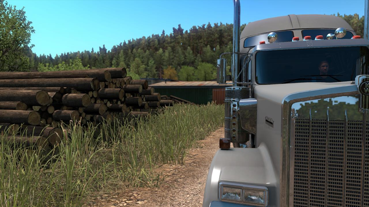 American truck simulator - forest machinery crack download