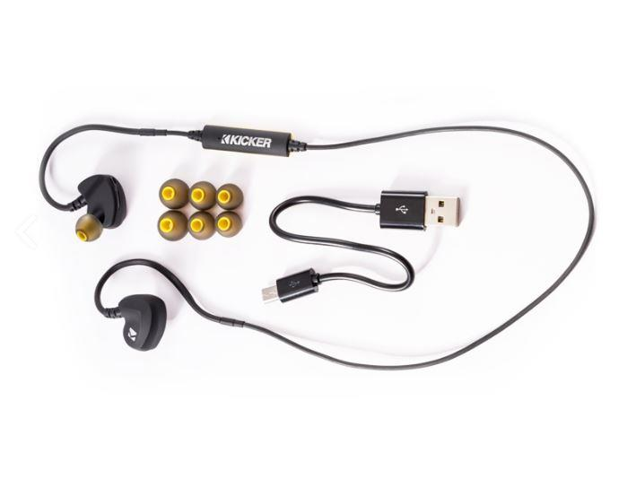 Hooked Up - Kicker EB300 Bluetooth Earbuds