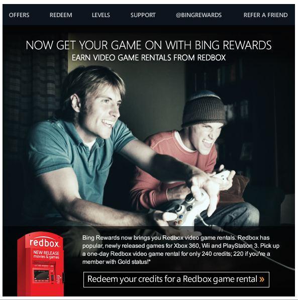Bing Reward Games