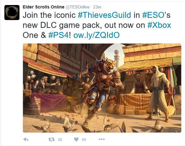 ESO Thieves Guild DLC is now out for Xbox One - Gaming Nexus