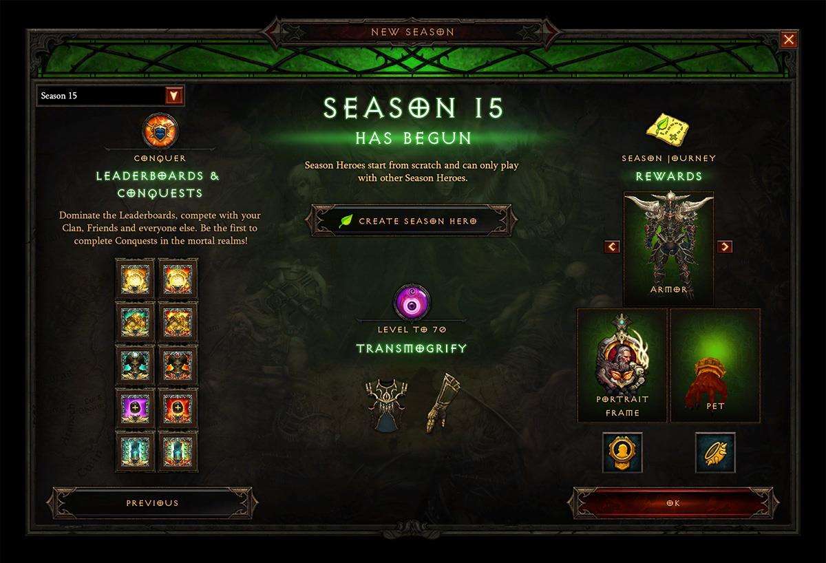 Diablo III Season 15: Boon of the Horadrim begins 9/21/18