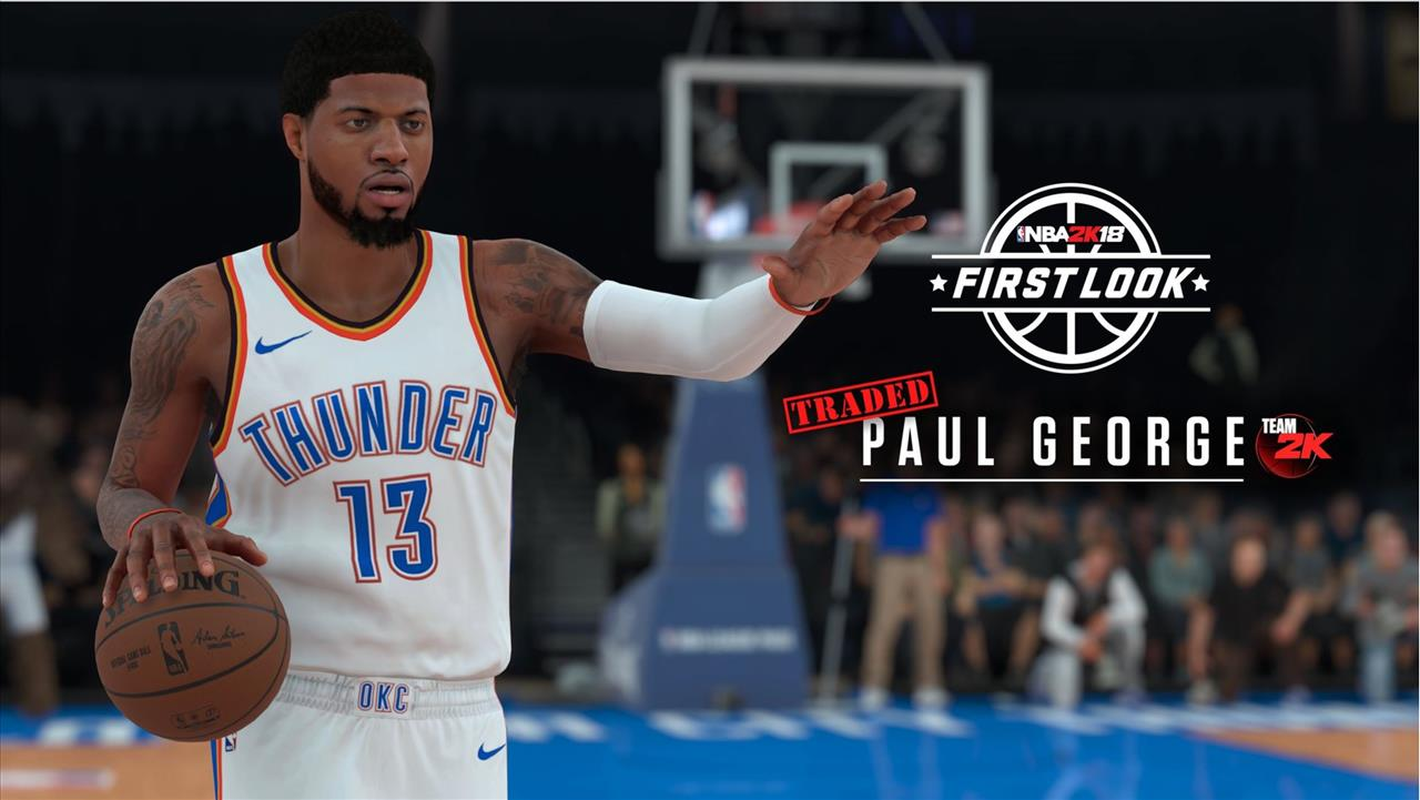 5b0bbc1a8 You also get the first look of Paul George in an Oklahoma City Thunder  uniform after being traded from the Indiana Pacers.