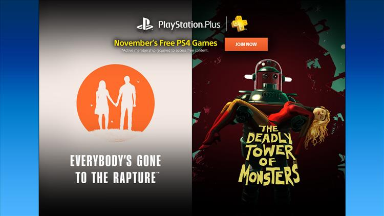 PS Plus games for November 2016