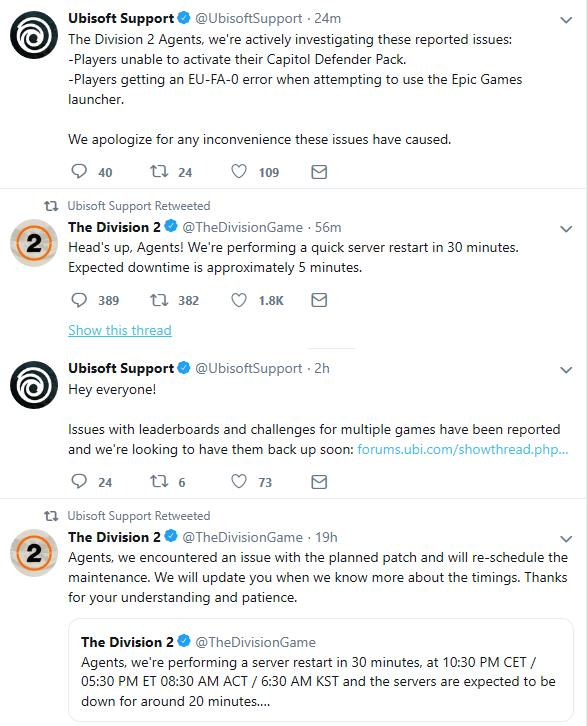 Ubisoft having struggles with The Division 2 last 24 hours