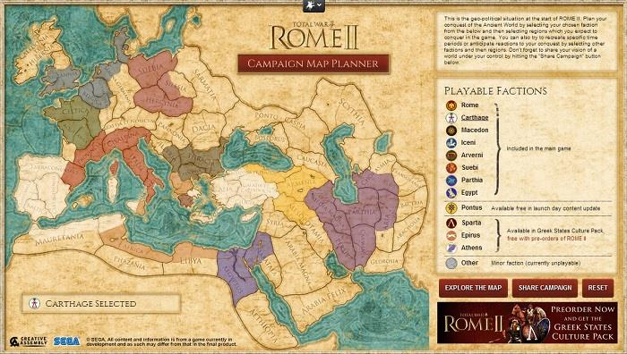 Explore The Interactive Campaign Map Of Total War Rome Ii