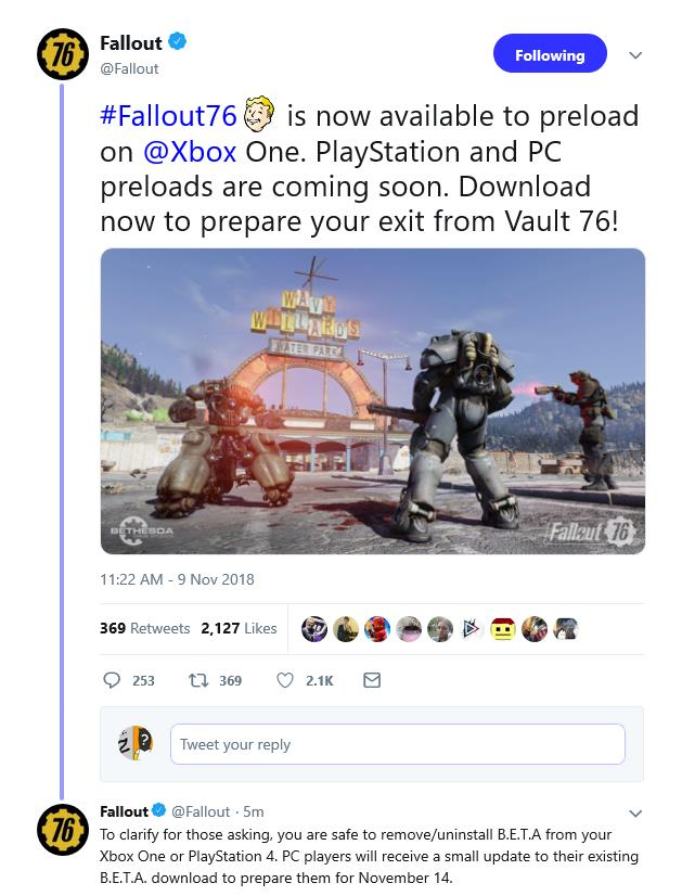 Yes, the Fallout 76 B E T A  is officially over - Gaming Nexus