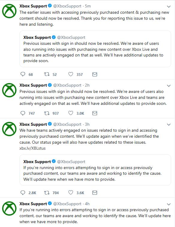 Xbox Issues occurring again today - Gaming Nexus