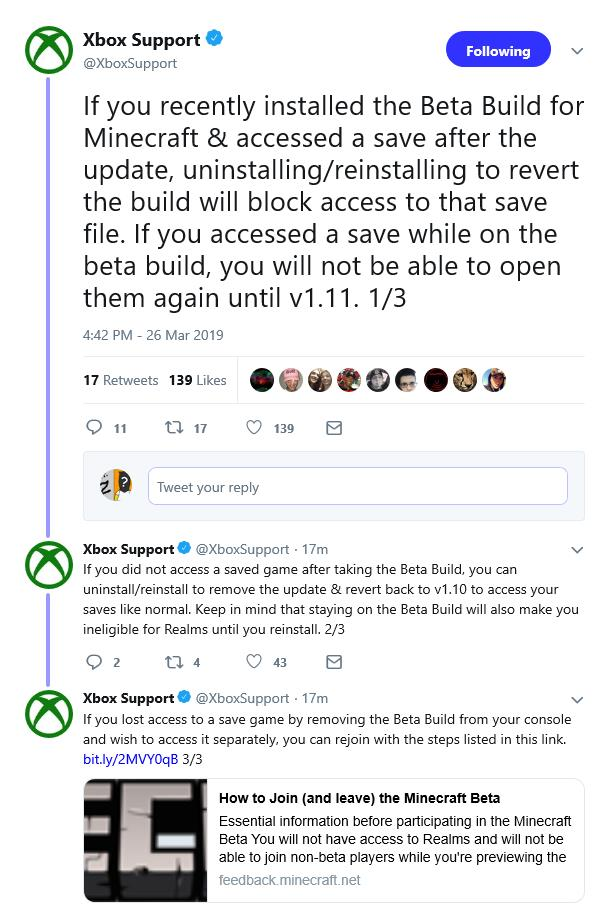 Microsoft provides update and fix for Minecraft Beta blunder
