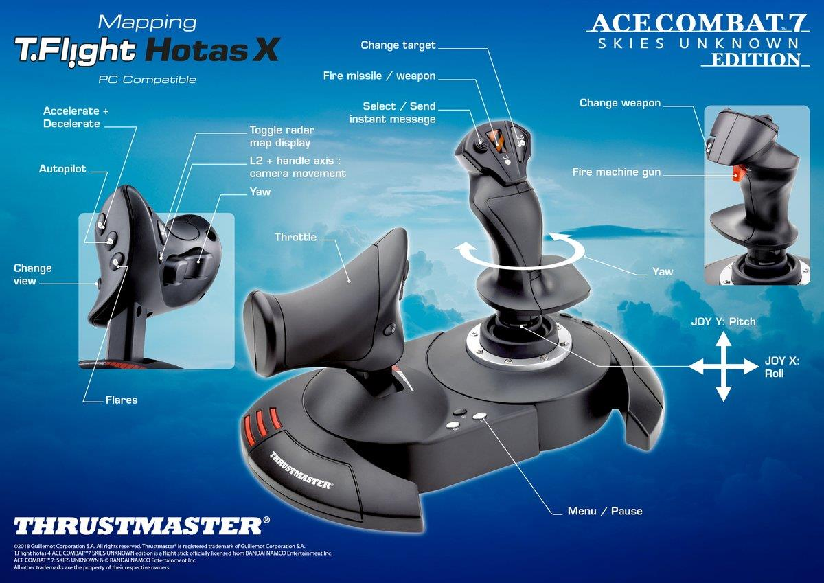 Thrustmaster announces plug & play compatibility with Ace Combat 7