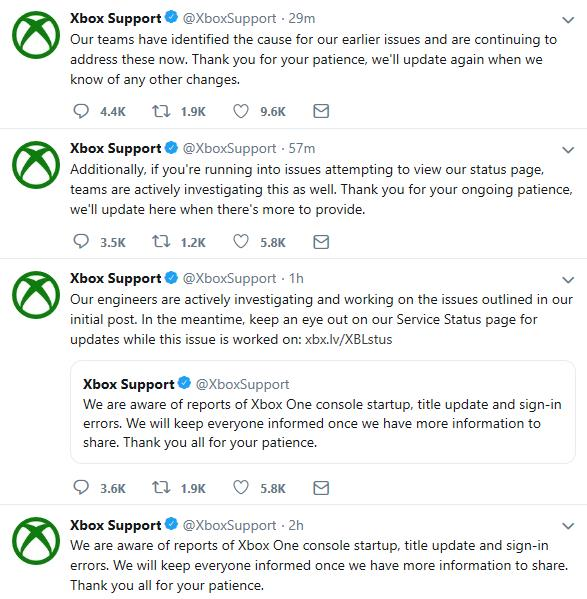 UPDATED: Xbox One Consoles and Xbox Live impacted by outage - Gaming