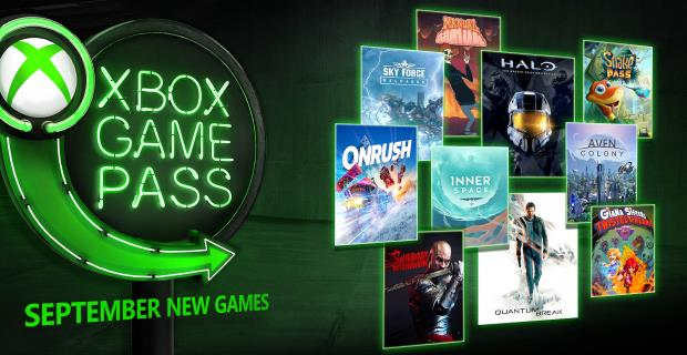 September Xbox Games With Gold And Xbox Game Pass Additions