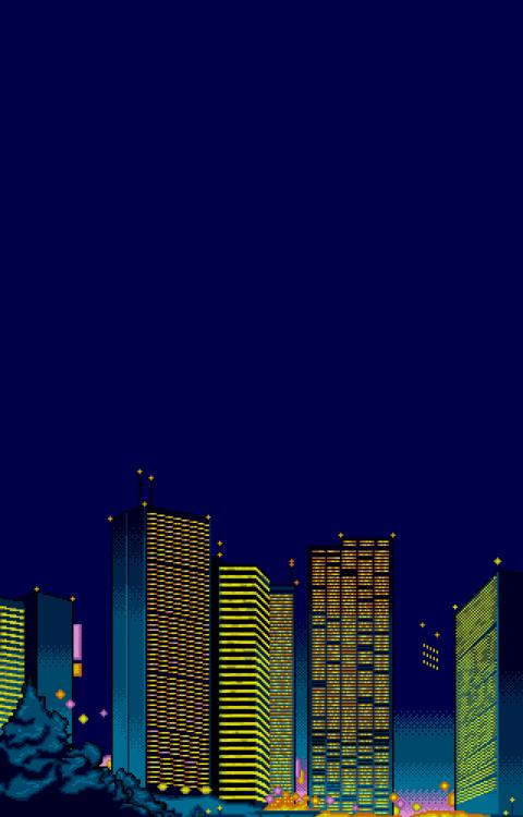 These 8 Bit Cityscapes Make Up The City Building Video